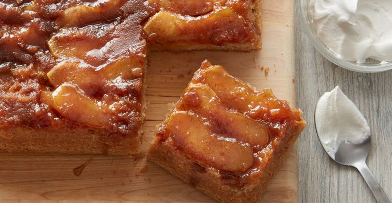 Caramelized Apple Cake Recipe Upside Down