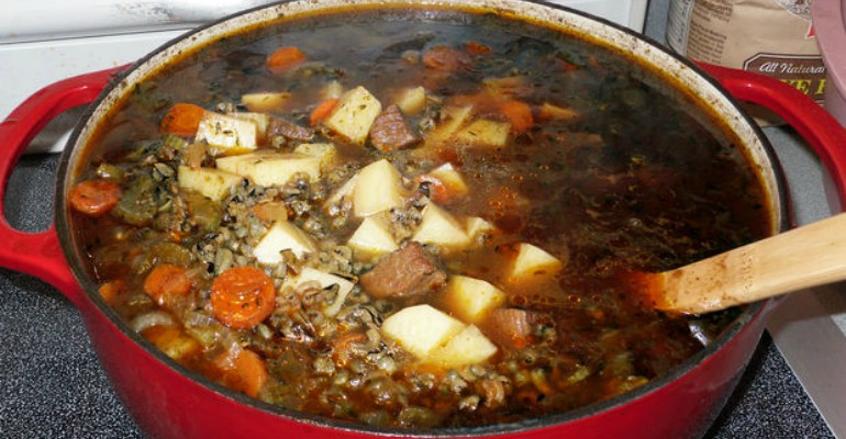 Everything But The Kitchen Sink Pork And Beef Stew - Recipe Roost
