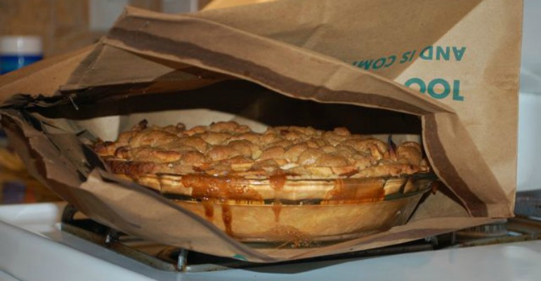 paper bag apple pie it turns out uh mazing recipe roost